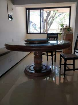 6 seater Solid Teak Dining Table