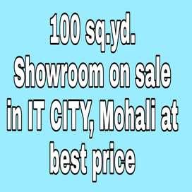 100 sq.yd. Showroom In IT City, Mohali having dense population on sale