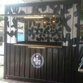 READY STOK Promo PPKM Booth Gerobak Semi Container Custom Yogyakarta 3