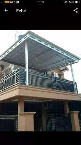 Kanopi minimalis atap baja ringan