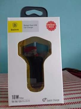 Baseus QC 3.0 Car Charger 5V 2A Dual USB