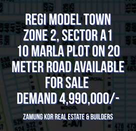 RMT, 2A1 10 marla PLOT on 20 meter wide road available for SALE