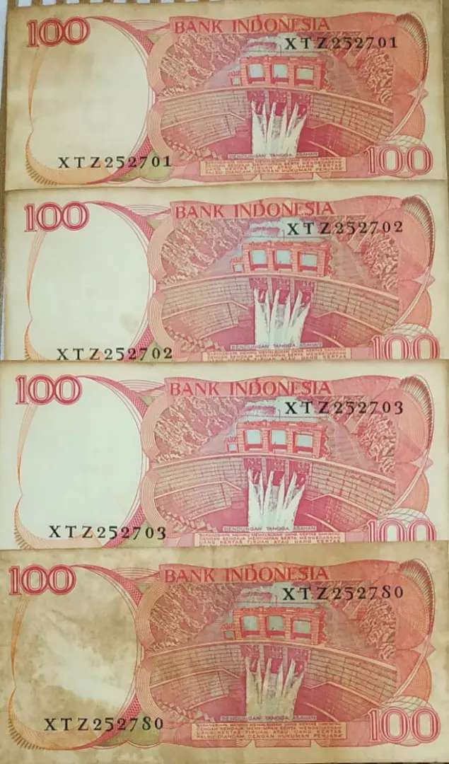 Uang Kertas Kuno 100 rupiah Baru tahun 1984 0