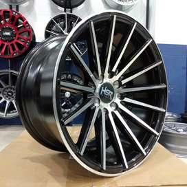 Velg mobil racing murah ring 16 HSR wheel Tsukuba r16 lubang 4 Gresik