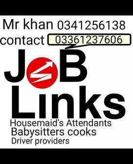 Housemaids babysitters attendants Cooks driver's Available 24 seven