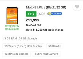 Moto E5 plus, perfect in condition, can be bargained