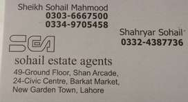 Flat available for rent in barkat market for office facing main road