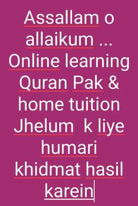 Online & home tuition learning Quran Pak
