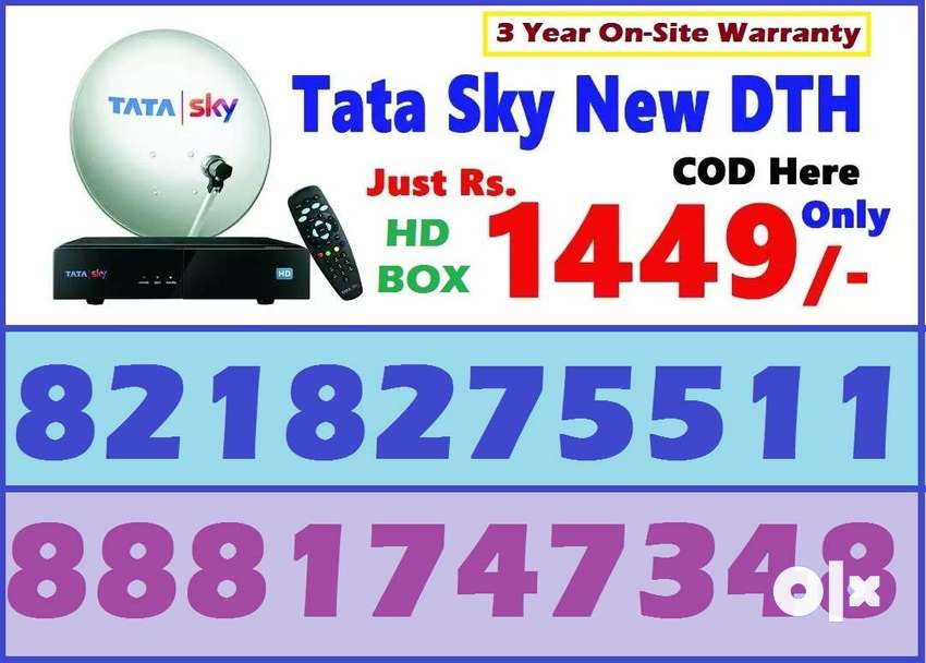 Tata Sky New HD BOX-Tatasky Dish tv D2H videocon Dishtv DTH-Best Offer 0