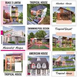 ribuan karya kami, arsitek / desain rumah pengalaman 16 th di Manado