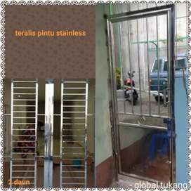Jasa pengerjaan pintu teralis stainless terpercaya