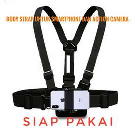 Body strap action camera dan handphone