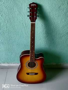 WASHBURN GUITAR WITH AMPLIFIER AND COVER