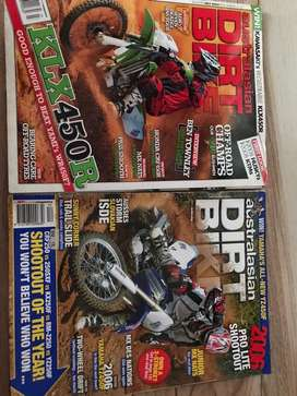 2 majalah dirtbike impor penggemar otomotif trail