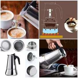 PROMO_300ml Teko Kopi Moka Stainless Espresso Coffee Maker untuk 6 cup
