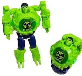 Avengers Hulk Robot Deformation Toy Convert to Digital Watch for Kid
