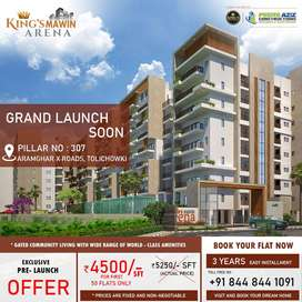 4 and 3BHK PREMIUM AFFORDABLE APARTMENT FOR SALE AT ARAMGHAR RING ROAD