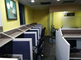 furnished office 20seats 50000rs 2cabin jank puri in 50000 rs