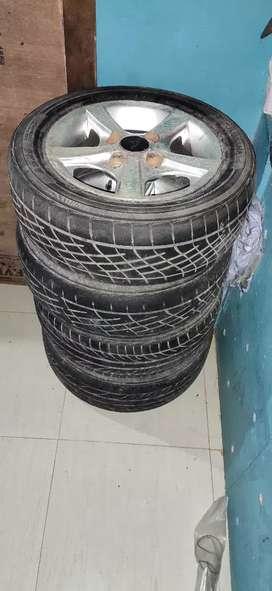 Platti brand Size 12 rim alloys with tyres for alto