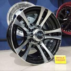 velg mobil escudo ring 15 pcd 5x139,7 black polsih gresik