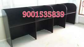 New wooden four seater library furniture / four seater workstation