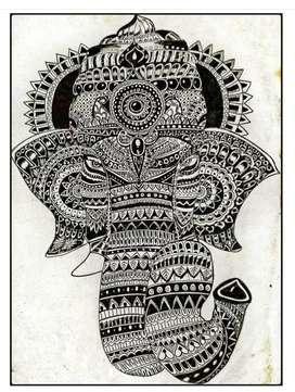 Ganesha mandala photo frame