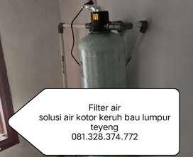 Filter air solusi air kuning keruh kotor