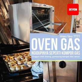 oven gas dengan pemantik api atas & bawah stainless steel Padang