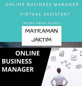 DICARI ONLINE BUSINESS MANAGER AREA MATRAMAN JAKTIM