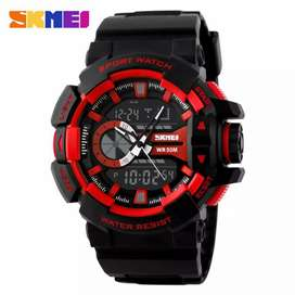 KL Jam Tangan Sport Dual Time Red Color Waterproof