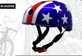 HELM Sepeda Motif USA