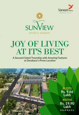 Plots for sale in derabassi SEC-11 just 9.66lakh onwards