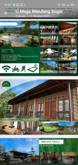 Disewakan Villa Dahlia lokasi Asri Dan Sejuk di Bogor