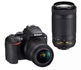 Nikkon D3500 dual lens available on Rent
