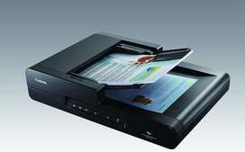 CANON DR-F120 FLATBED SCANNER