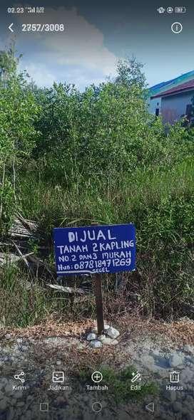 Djual tanah 2kapling murah komp Madina di Puntik