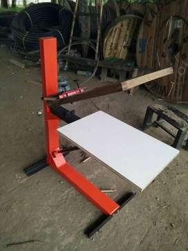 mesin sablon manual meja bonus papan kayu screen kaos kertas aceh