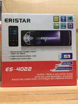 Headunit Mobil Tape Mobil Audio Mobil Single Din Eristar ES-4022