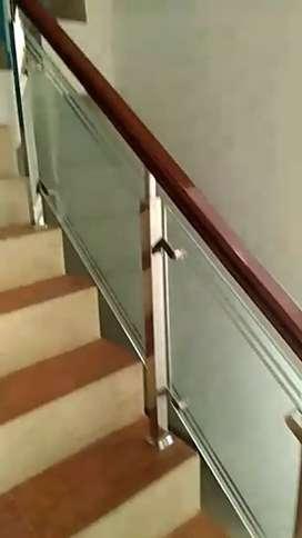 Dimas stel @6023 reling tangga setanles kaca