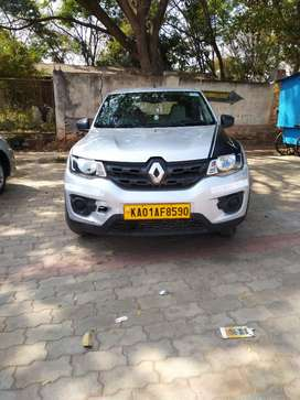 Renault Kwid Yellow board car