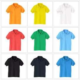 Kaos polo shirt & bordir / sablon