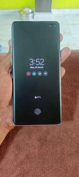 Samsung  S10+ blue colour 8gb128ram