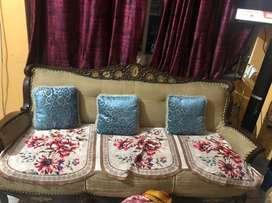 Wodden encarved sofa set for sale