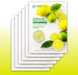 Mirabelle korea fairness facemask sheets(pack of 6)just for rs.600