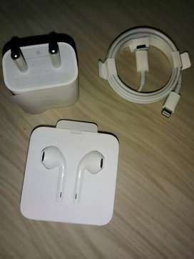 I phone charger and earphonr