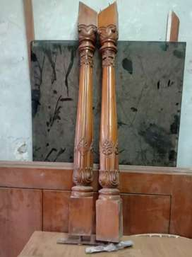 Antique and old Burma teak wood  100 number  with  fhol carved.