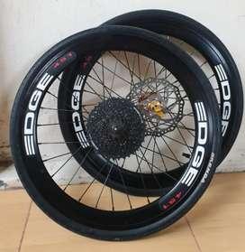 Wheelset Edge + Rotor + Sproket 9sp