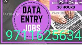 We are wanted data entry 20 operators, this is a part time job