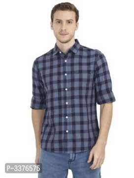 Men's Slim Fit Cotton Checked Casual Shirts