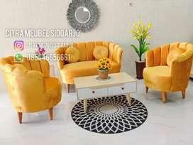 Sofa kerang oreghon orange